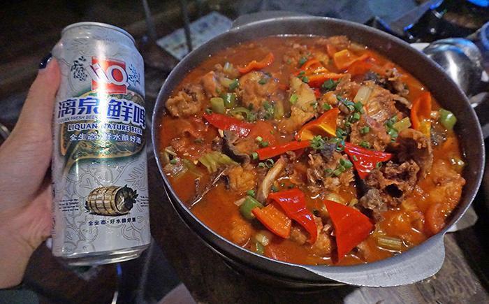 桂林美食-漓江啤酒鱼